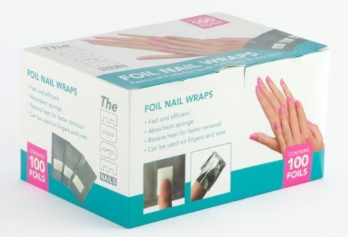 The Edge Foil Nail Wraps With Pads 100's