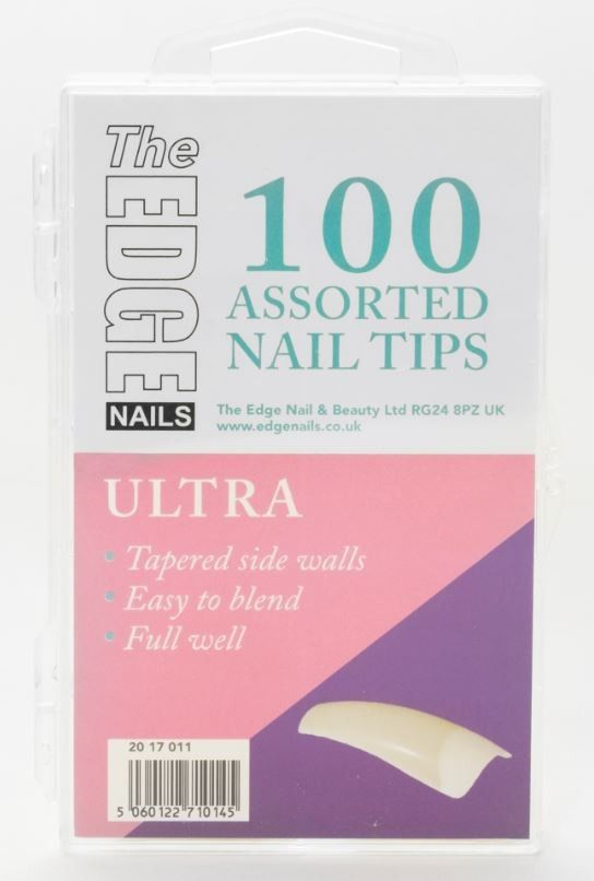 Nail Tips - Ultra - 100 Assorted (Boxed)