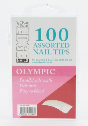 The Edge Olympic Nail Tips - Box of 100 Assorted Tips