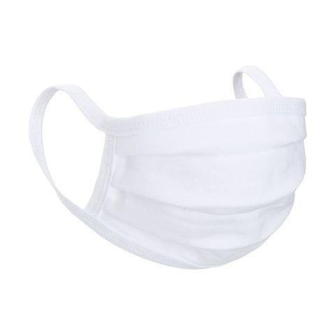 White Reusable Jersey Face Mask