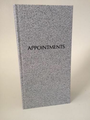 3 Column Appointment Book - Grey Quirepale