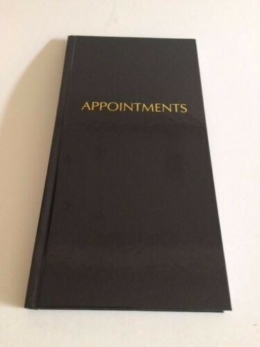3 Column Appointment Book - Black Quirepale