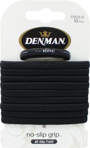 Denman Non Slip Hair Bands Black