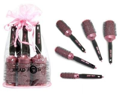Head Jog 76-80 Oval Pink Bag Set (5 Brushes)