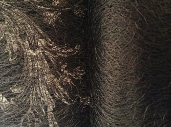Spiders Web Lace Netting Black Material Sold Per Half Metre