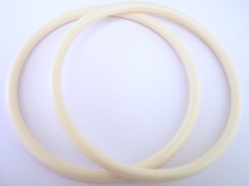 One Pair of Ivory/Cream Colour Round Bag Handles