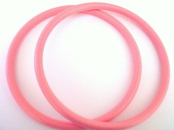 One Pair of Pink Colour Round Bag Handles for Crafts