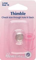 Hemline Large Metal Thimble Size 18 H222L