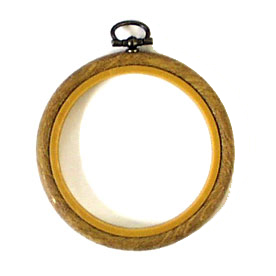 "flexi hoop 4"" wood grain ring for embroidery cross stitch needlecraft"