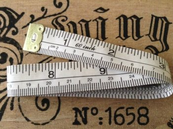 Tailors Tape Measure Fibreglass Metal End