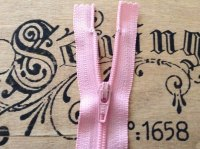 Pink Zip Length 18cm Nylon Closed End Zipper Baby Pink