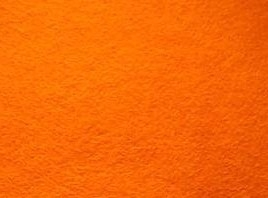 One Square of Craft Felt: ORANGE