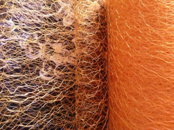 Orange Spiders Web Netting Half Metre Length Gold Net