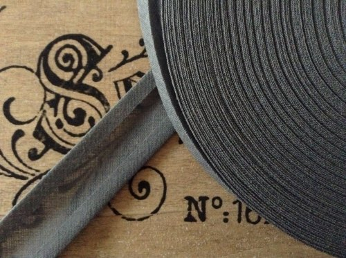 mid grey cotton bias binding tape 3 metres x 25mm 6344