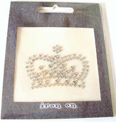 Rhinestone Iron On Motif: Crown