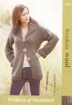 Twilleys Freedom Knitting Pattern 9085 Ladies Cardigan