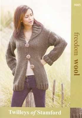 Twilleys Freedom Knitting Pattern 9085 Ladies Cardigan