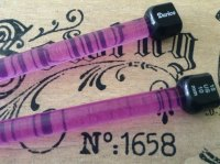 10mm coloured plastic knitting needles DARICE one pair