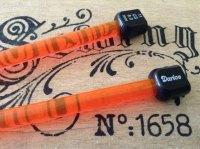 8mm coloured plastic knitting needles DARICE one pair
