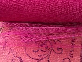 Pink Colour Tulle Fabric Fuchsia Tutu Material