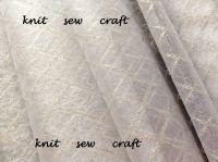 Diamond Pattern Organza White Silver Snow Sheer 1m Club Green CGC65