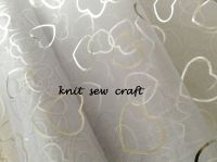Hearts Pattern Organza White and Silver Snow Sheer 1m Club Green CGC68