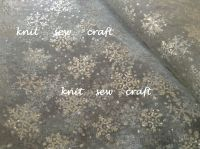 Organza Fabric With Silver Glitter Snowflakes Sold By The Metre