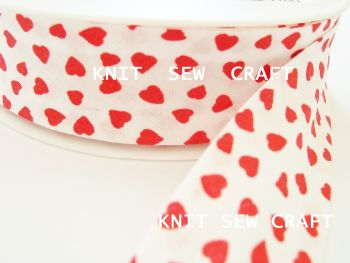 hearts patterned bias binding