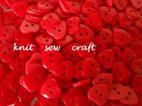 red heart shaped buttons
