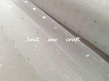 White Sheer Organza Silver Glitter Dots Fabric Per Half Metre