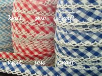 gingham checks bias binding