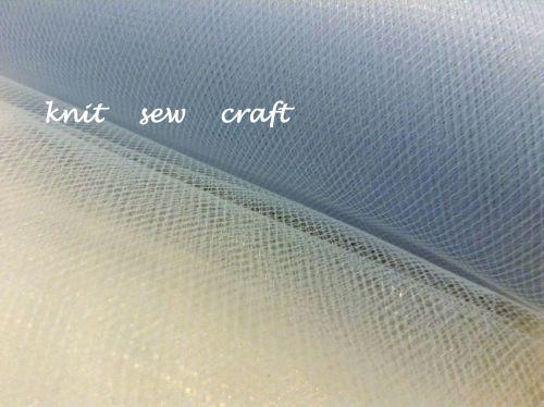 Light Blue Tutu Net Tulle Costume Crafts Netting Fabric