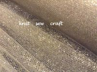 Metallic Silver Tulle Netting Material Sold By The Metre