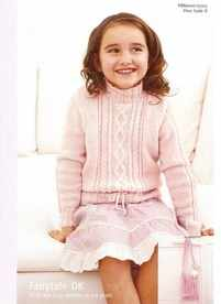 Patons Fairytale DK Knitting Pattern 3315 Child's Sweater & Bag