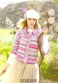Sirdar Crofter Chunky Knitting Pattern 9205 Easy Knit Jacket