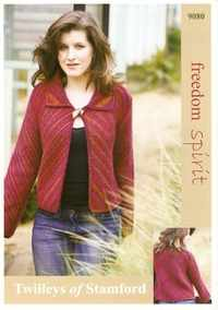 Twilleys Freedom Spirit Knitting Pattern 9080 Diagonal Jacket