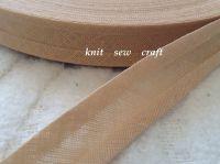 beige bias binding 100% cotton 15mm fabric edging trim 33 metres