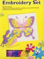 Embroidery Cross Stitch Sewing Kit Wool Needles Pattern Craft Set