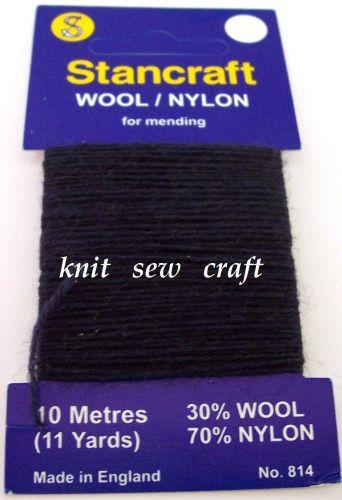 10 Metres of Stancraft Sock Darning Wool NAVY BLUE
