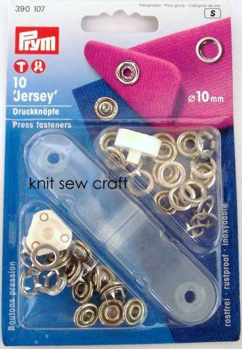 Prym Jersey Ring Silver Press Fasteners 390107