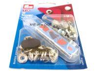 prym press snap fasteners 12mm anorak 390330 SILVER