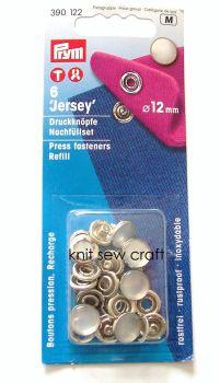 prym press snap fasteners 12mm jersey cap 390122 pearl refill