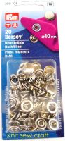 Prym Press Snap Fasteners Refill Pack 10mm Silver 390104