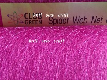 Fuchsia Pink Spider Web Net 15cm Netting Craft Material 1m Club Green