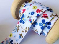 flower pattern bias fabric 18mm blue red green floral print 018 1 mtr