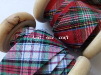 tartan check bias tape