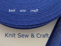 indigo blue colour cotton bias binding tape 3 metres x 25mm