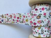 pink flower pattern bias binding fabric 18mm wide