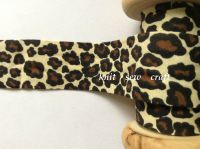 Leopard Print Cotton Bias Tape Black Brown Cream Animal Pattern Fabric