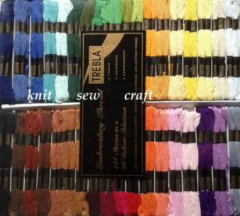 Cross Stitch Threads - Boxed Set Of 144 Embroidery Skeins